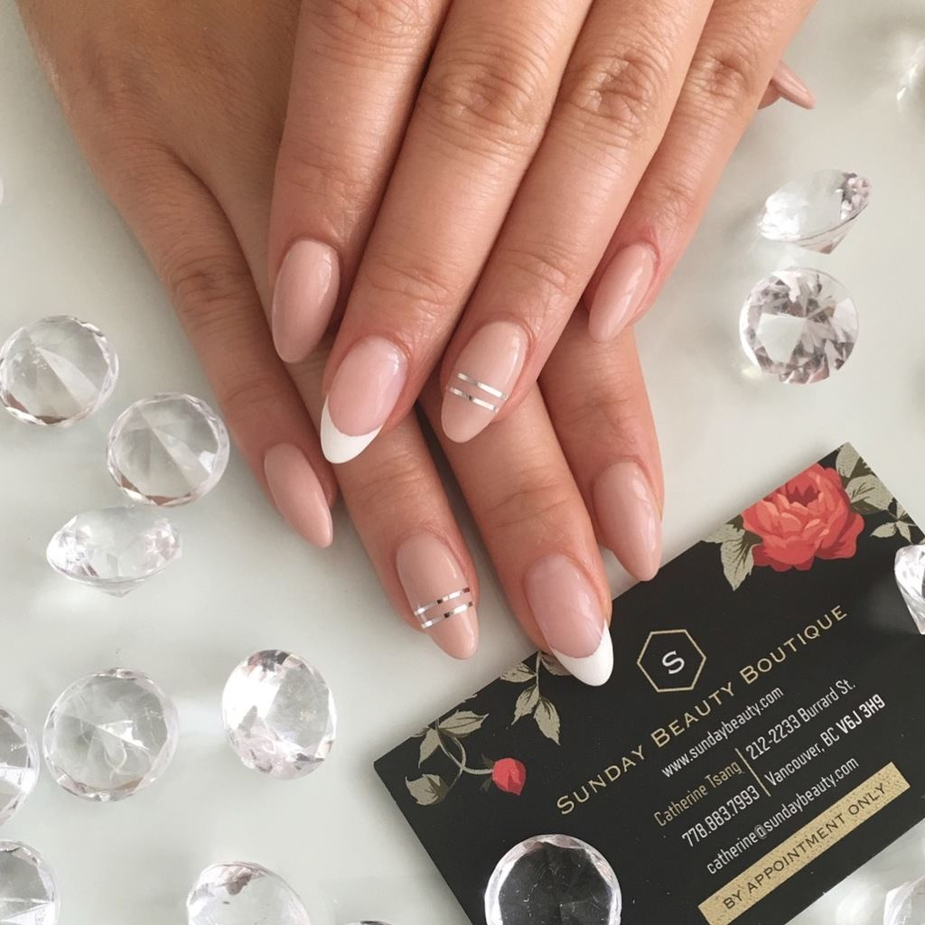 Ideal Nude Nail Extensions Gif